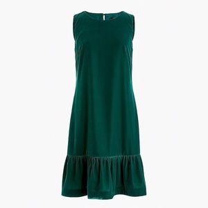 J. Crew Dresses - J. Crew emerald green holiday velvet dress